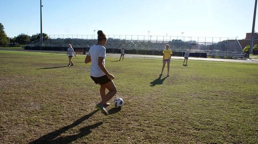 Girls+Varsity+Soccer+welcomed+The+Seminole+Newspaper+to+the+team.+