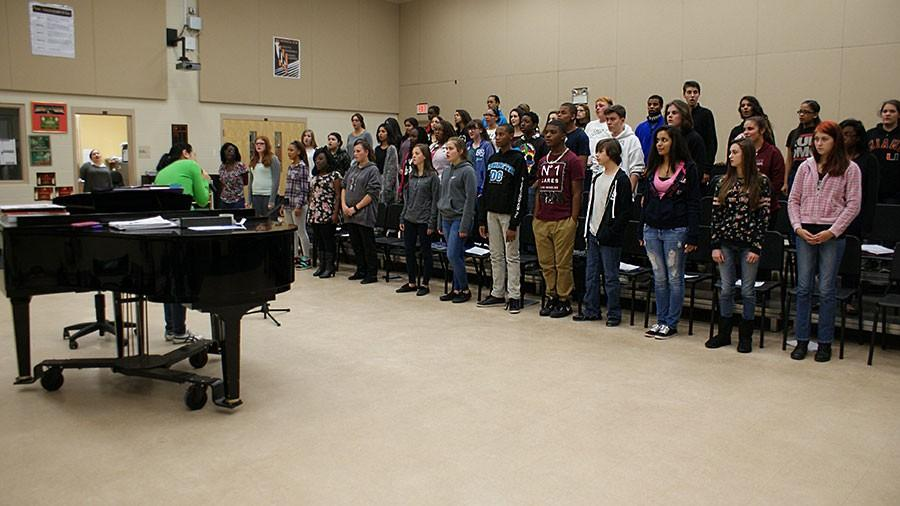CHORUS PREPARES FOR UPCOMING COMPETITIONS