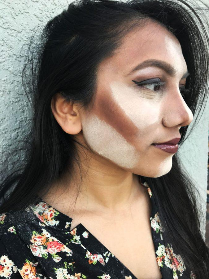 Highlighting+and+contouring+with+bold+brows+have+dominated+makeup+trends+in+2016.