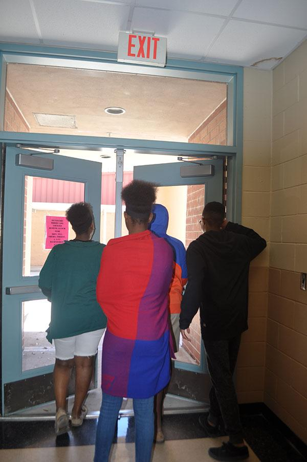 Students who were placed under lockdown were allowed to leave campus shortly after the long suspenseful scare.