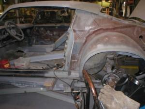 1973 Camaro Z28 panel replacement left side. Done by Jowell Bernacet & Gabriel Rivera.
