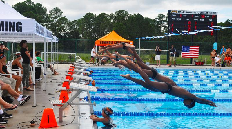 SEMINOLE SWIMS TO VICTORY