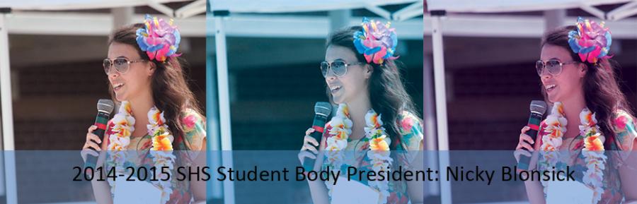 NICKY BLONSICK SERVES AS SEMINOLE'S NEW STUDENT BODY PRESIDENT