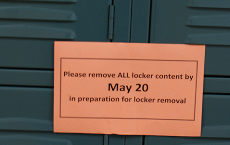 LOCKERS TO BE REMOVED OVER SUMMER