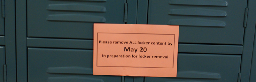 LOCKERS+TO+BE+REMOVED+OVER+SUMMER