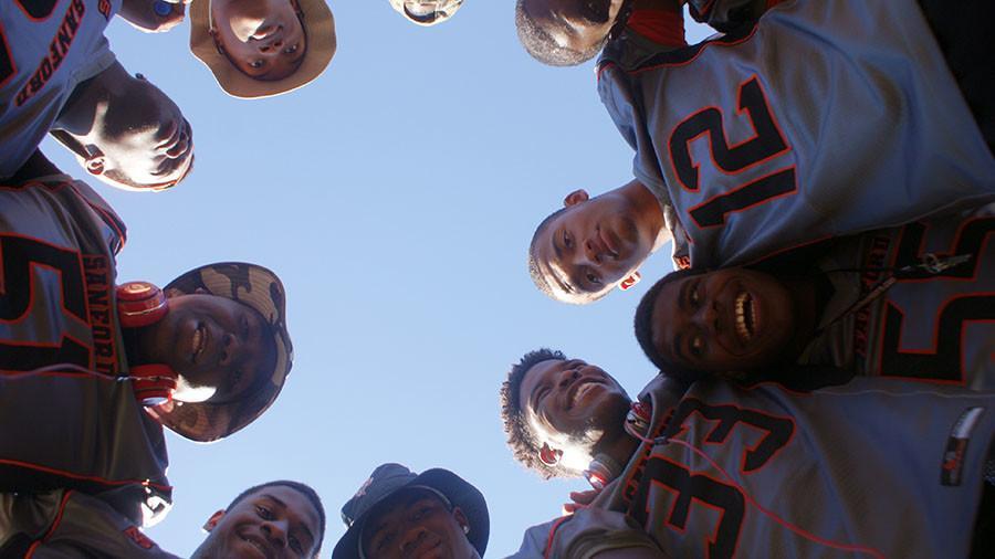 The SHS varsity football team prepares for the 2015-16 season.