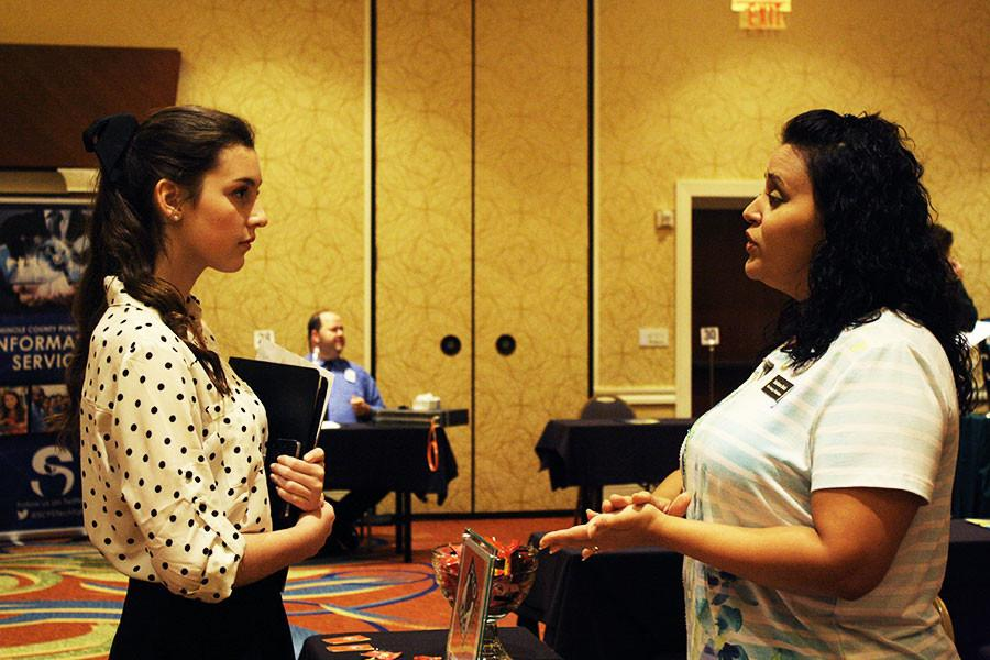 The Internship Expo offered students business experience.