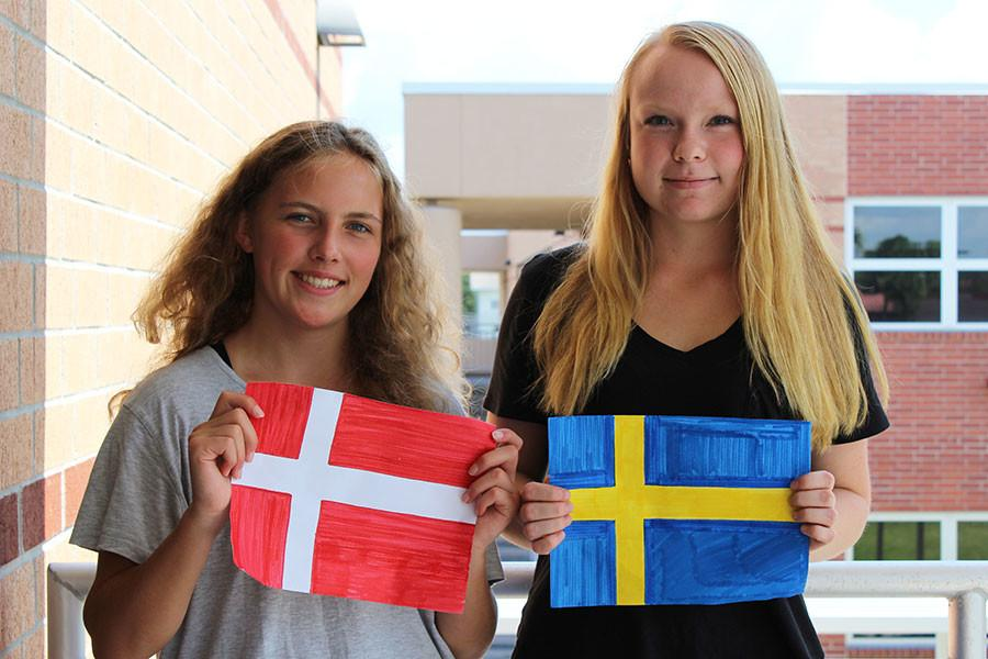 Two+foreign+exchange+students+came+from+Denmark+and+Sweden.