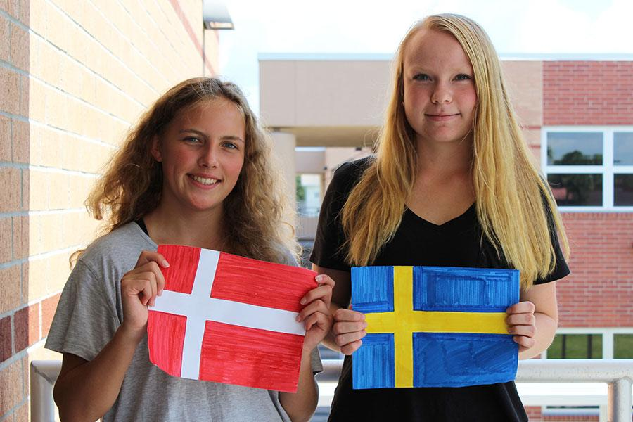 Two foreign exchange students came from Denmark and Sweden.