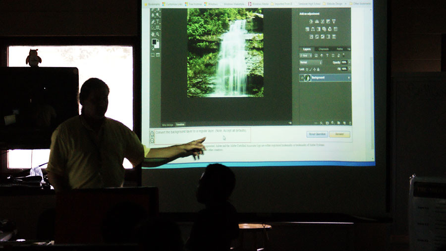 Many of our technical teachers, spread about campus, are able to provide adobe certification through their classes.