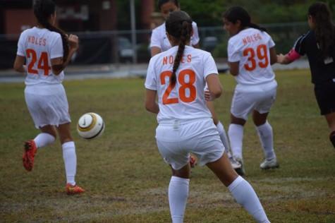 Seminole's JV Girls Soccer team plays Hagerty High.