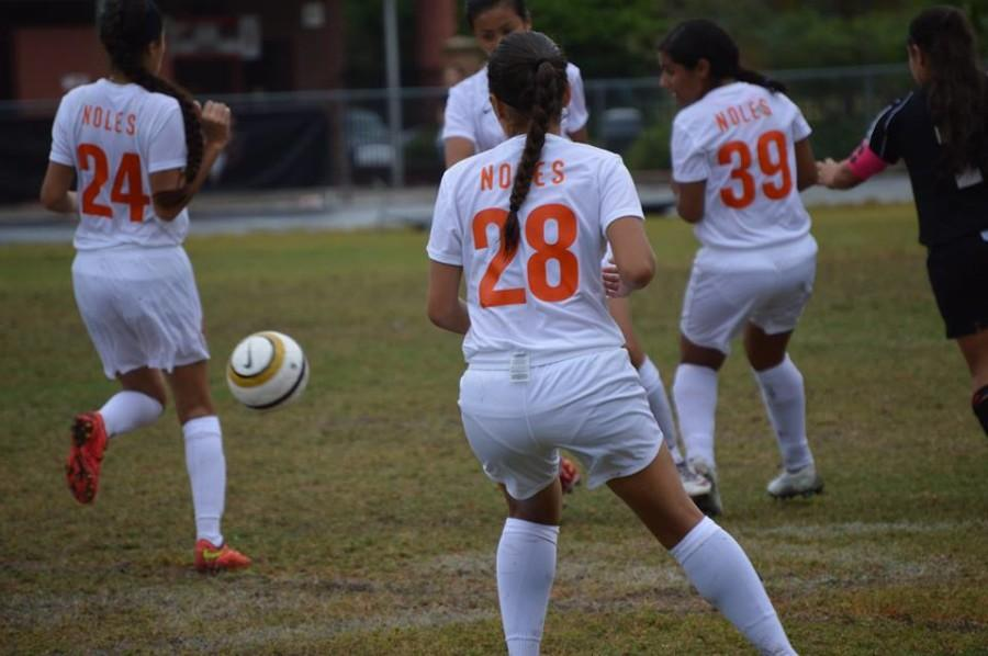 Seminole's JV Girls Soccer team plays Hagerty High.