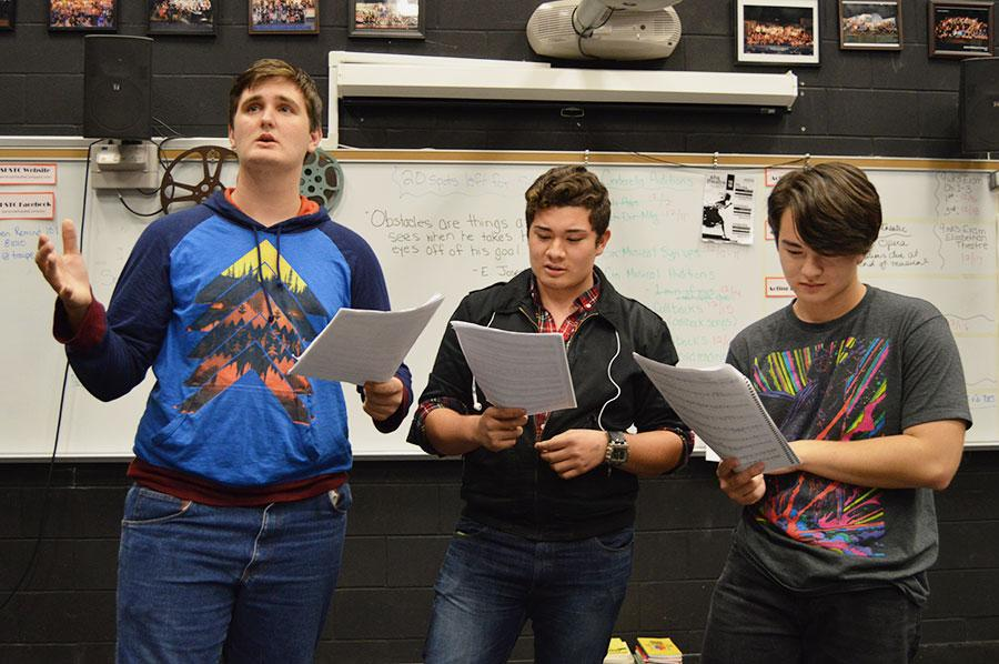 Students audition for the upcoming Seminole Theater production, Cinderella.