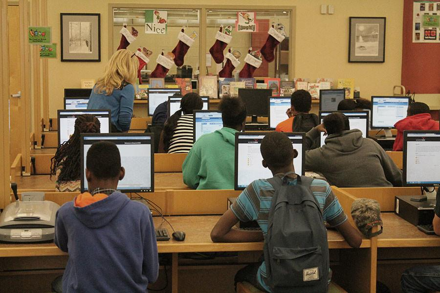 The programming club teaches and advises students on how to best use the computers and their software.
