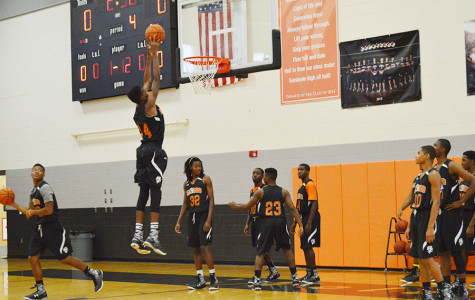 The 'Noles Boys Varsity Basketball team is working hard to prepare for their big game at the Amway center.