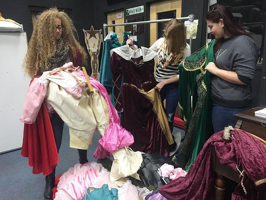 Seminole's Theatre Company receives a helping hand in making Cinderella's Dress.