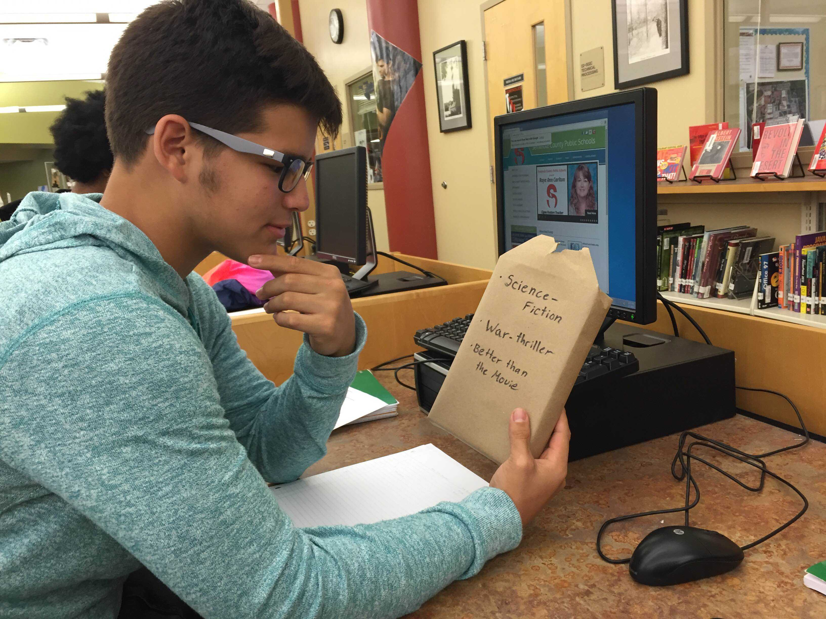 Students showed their support of Literacy Week by reading and participating in themed activities.