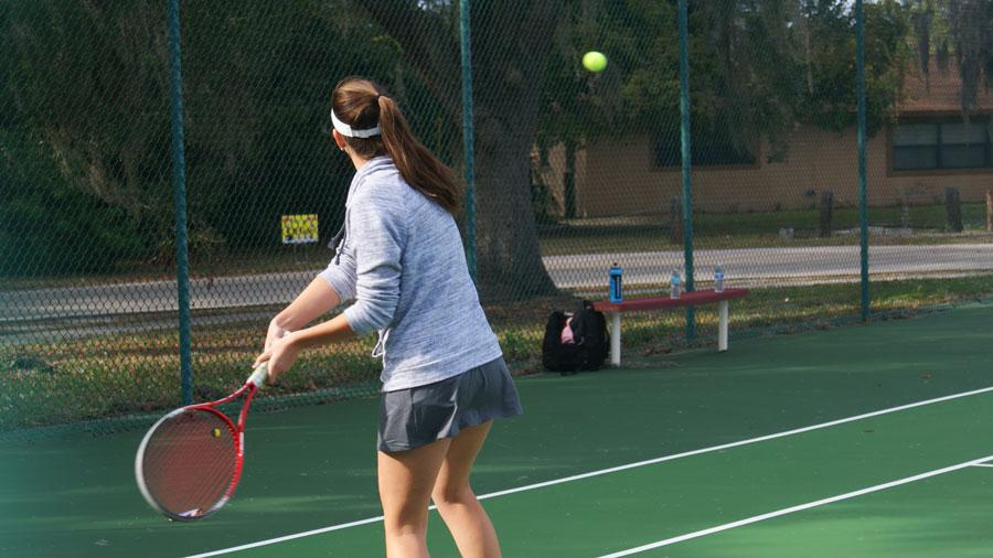 The SHS Tennis team prepares to serve up a successful season.