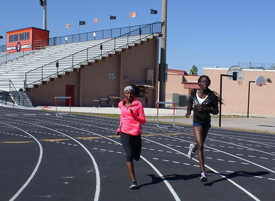 With the track season starting up, the athletes began training to win.