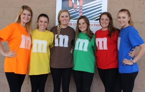 Students display their school pride during Senior Week.