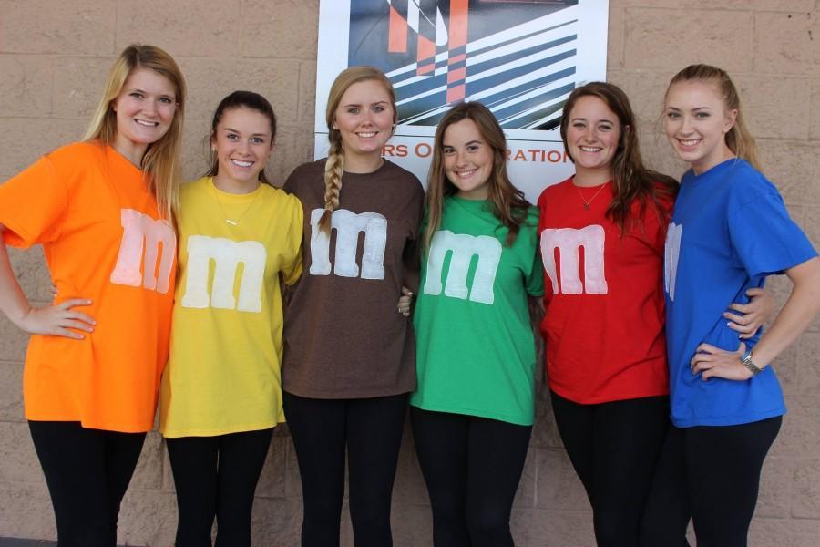 Students display their school pride during Senior Week.