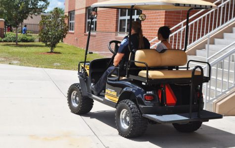 Officers on campus give students guidance and provide safety.