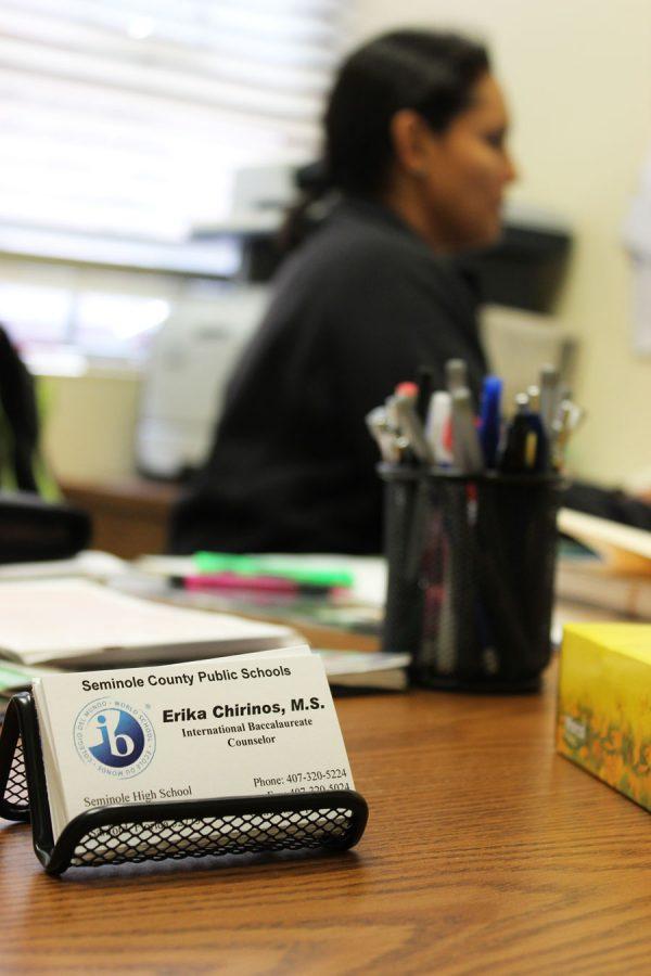 Ms. Chirinos is Seminole High's newest IB counselor.