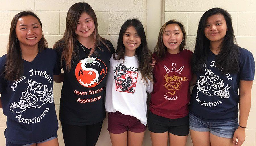 Students in cultural clubs showcase their pride by wearing their club t-shirts.
