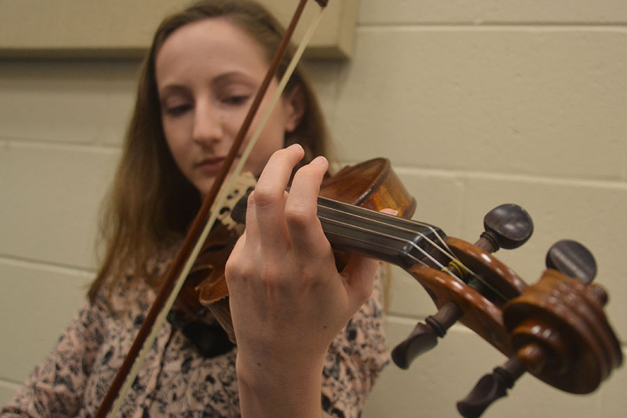 Emily Erdman's passion for violin has helped her reach great heights.