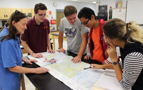 Students learn about technology and aerodynamics involved in pilot aircraft.