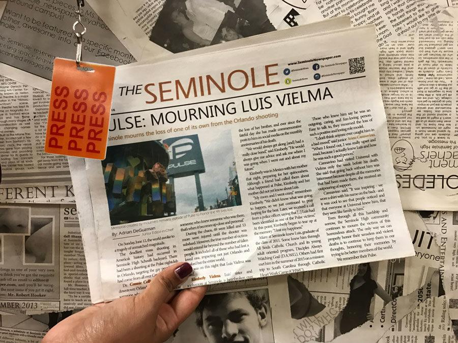 The Seminole Newspaper and Salmagundi Yearbook staff will combine next year to run both publications.