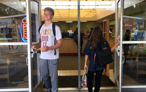 Freshman take their first steps into high school as seniors walk out.