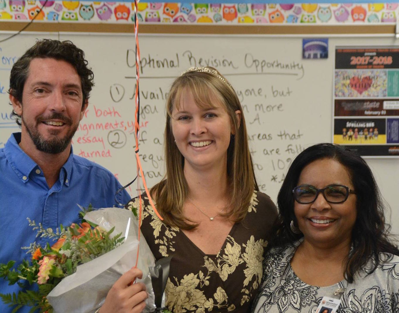 Today, beloved English teacher Mrs. Kiersten Bordner was named Teacher of the Year.