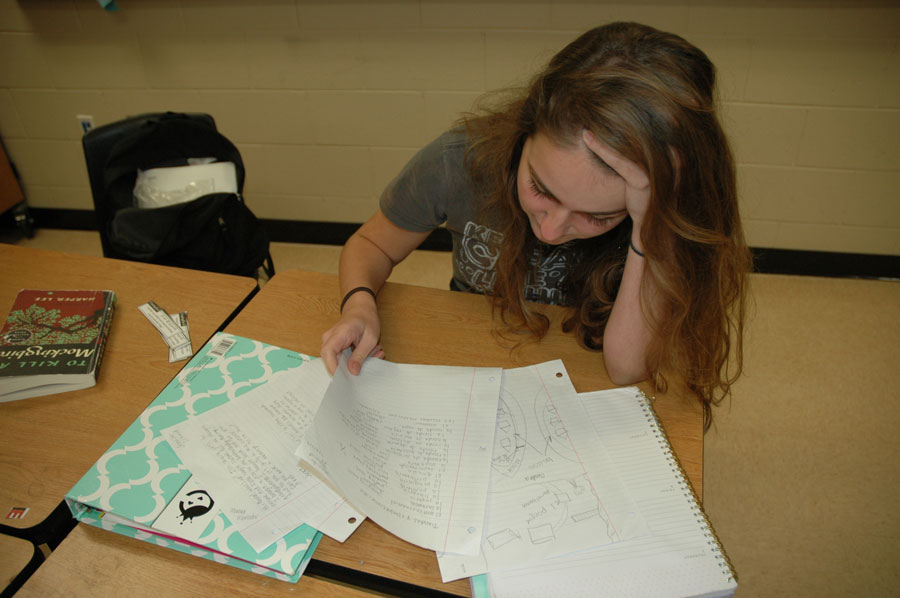 Student very stressed with too many tests.