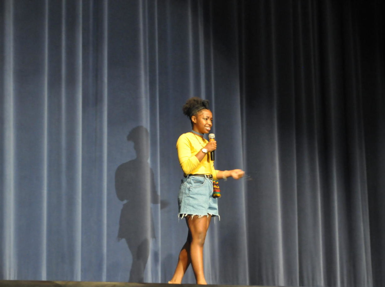 Students held a preview viewing of the Black History Show last Thursday in order to practice for the big show.