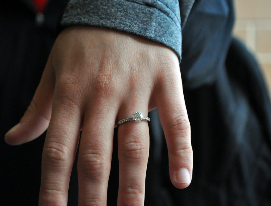 Zoey Rosenblatt is delighted by her engagement ring, which she described as a