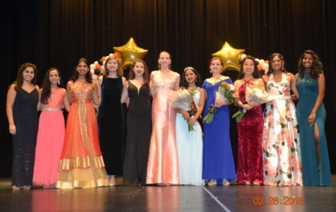 Eleven juniors competed in the talent portion of Miss SHS, which was held last night.