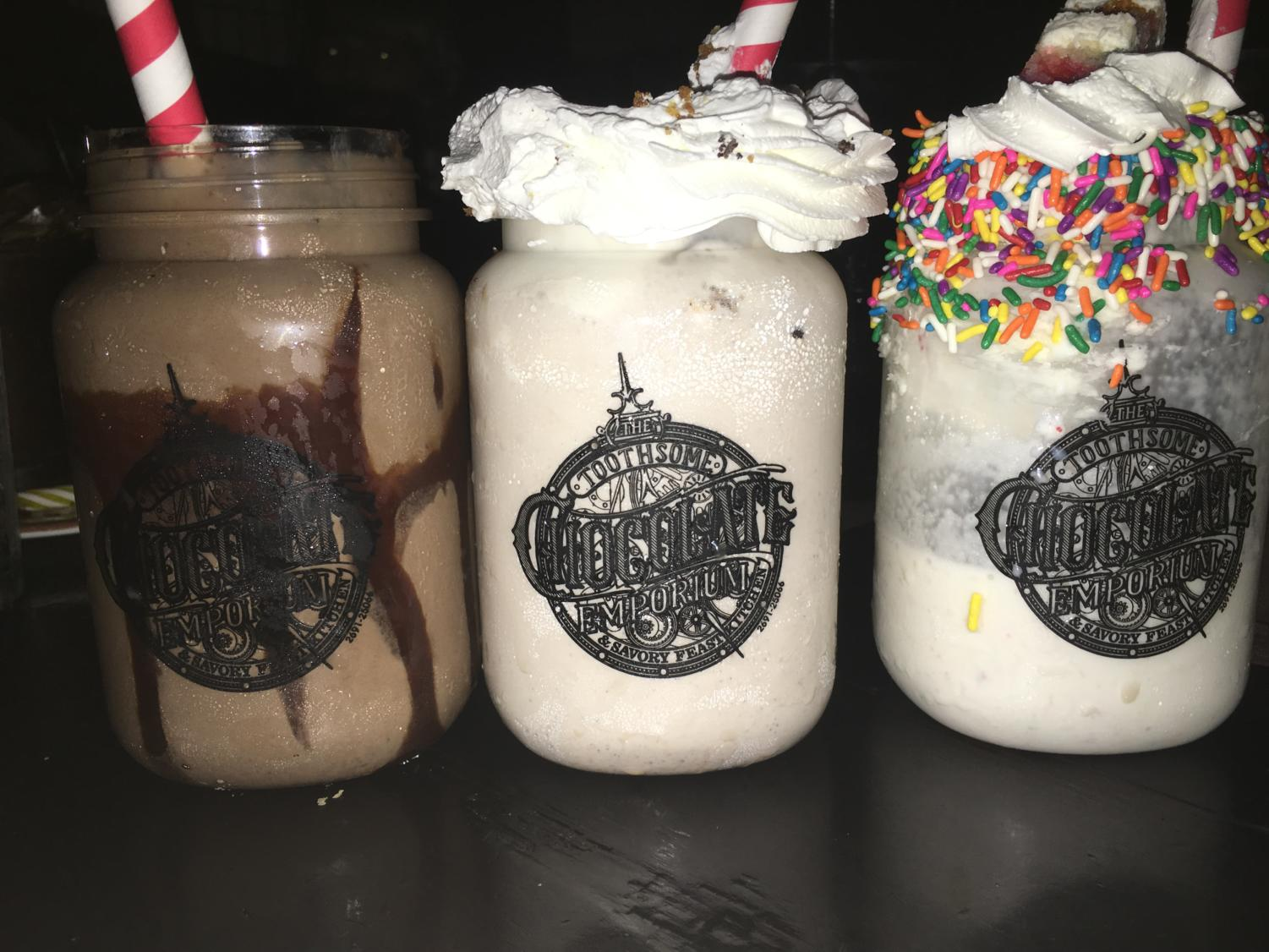 The brownie, confetti, and cookie shakes are among the most famous desserts served at the Emporium.