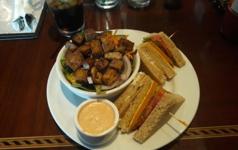 Jillian Kindy reviewed Ethos' vegan club sandwich.