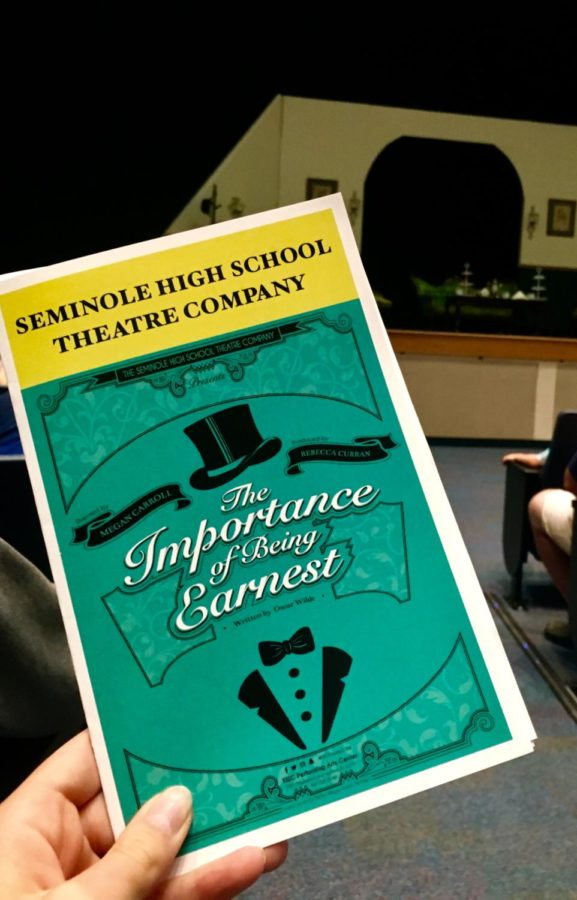 Seminole High School's production of The Importance of Being Earnest runs October 19-21.