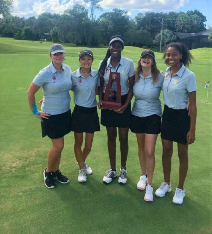 GOLF TEAM SCORES DISTRICT RECOGNITION