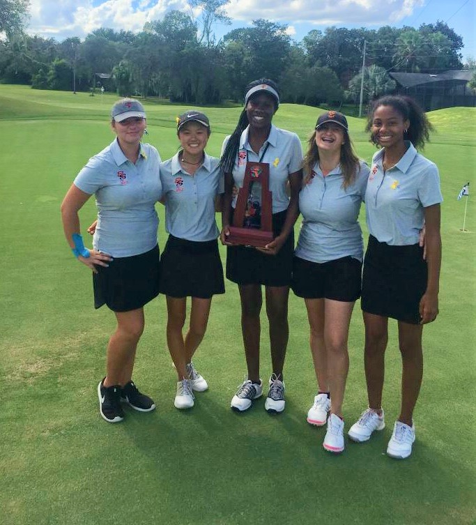 The hard work and dedication of the Lady Noles Golfers are shown through their win as district runner- ups.