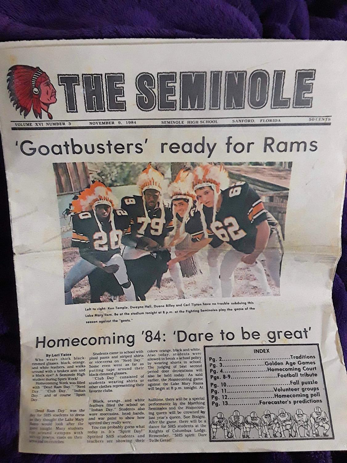The Seminole Newspaper dates back to 1922.