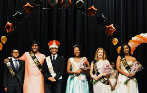 Finalists pose for a picture at the end of the 2019 PTSA Mr and Miss SHS competition.