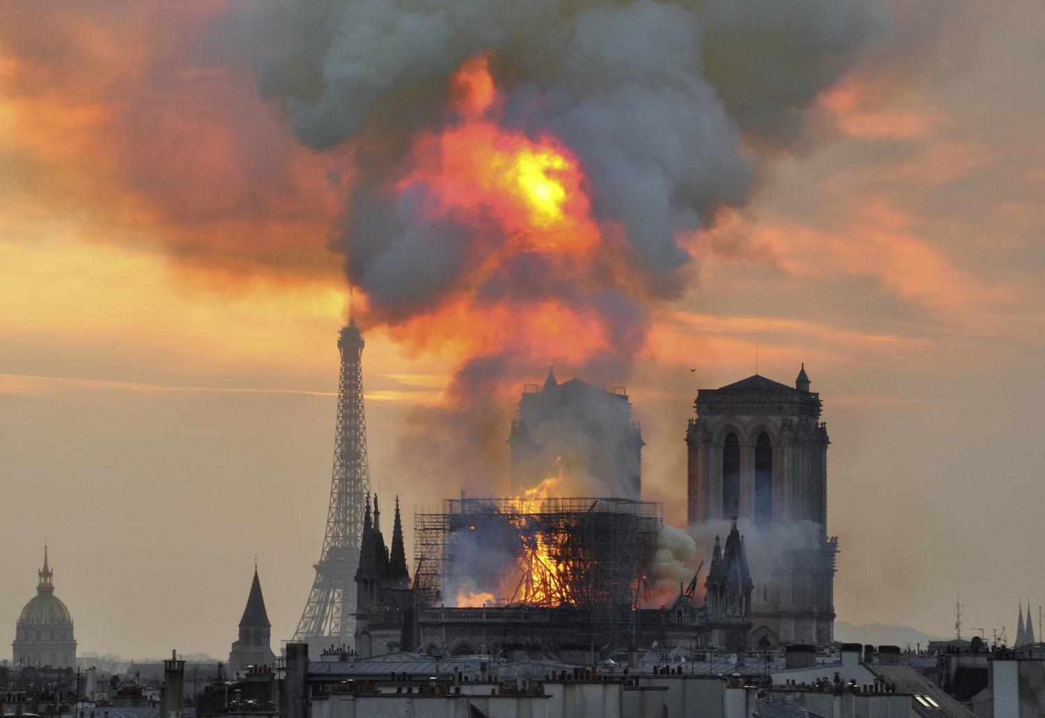 The significantly historical Notre Dame up in flames as it was caused by an unknown source.