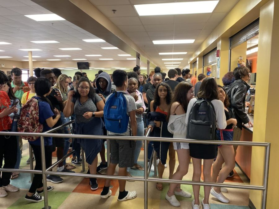 The Seminole lunch line is a battleground for hungry students.