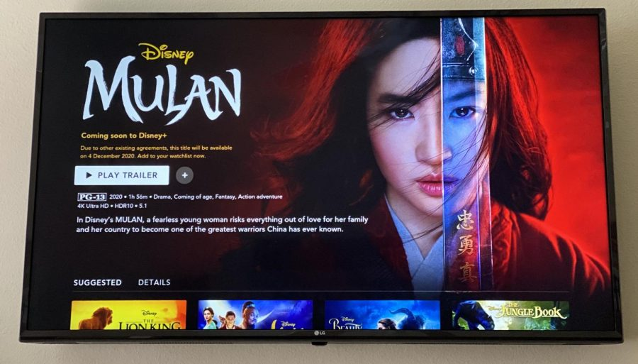"Disney Plus has released that a live action movie of ""Mulan"" will be showcased in December of 2020. The movie focuses on the original tale of Mulan rather than the animated movie itself, but still incorporates lots of details from that as well."
