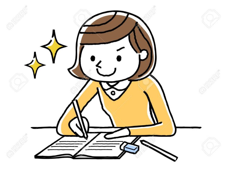Credit: https://www.123rf.com/photo_80788481_stock-vector-girl-studying.html