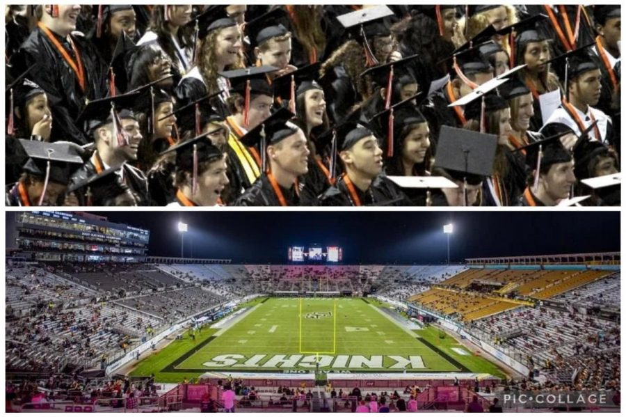 The time for the class of 2021 to depart is approaching. Though many senior events have been cancelled due to Covid-19, arrangements to say our goodbyes are in production. The graduation ceremony is expected to take place at UCF's Football Stadium.