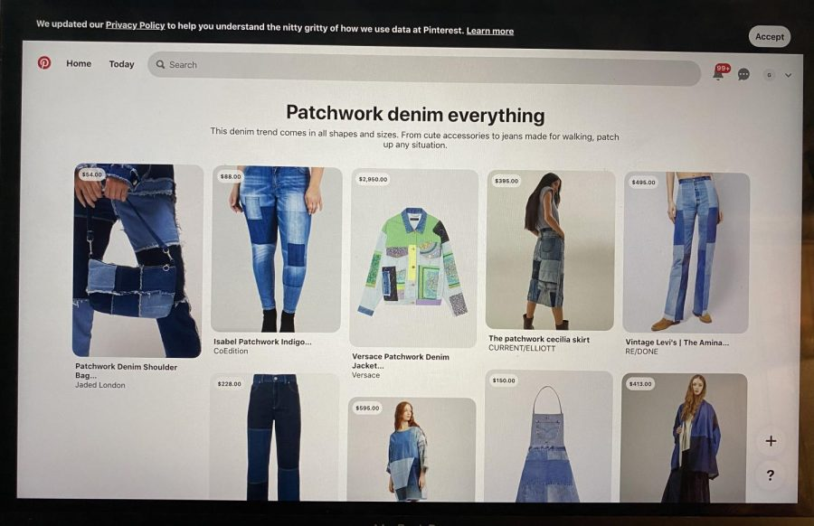 Compared to last years trends involving VSCO, people now look more towards Pinterest to look for fashionable trendy things like patchwork jeans.